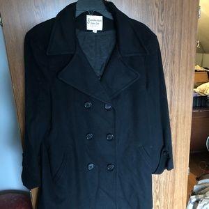 Scandinavian faux fur Pea coat